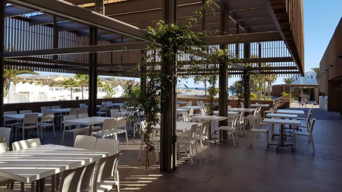 Aussenbereich des Restaurants